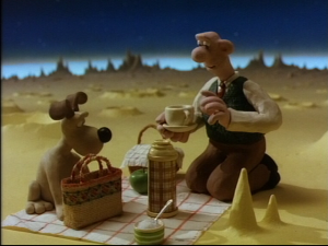 A Grand Day Out, the first Wallace and Gromit film