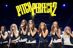 The Bellas on stage in Pitch Perfect 2
