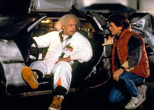 Doc Brown meets an impossible deadline, creating time travel in the process